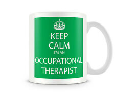 KC_215 KEEP CALM I'M AN OCCUPATIONAL THERAPIST OT GREEN GIFT MUG CUP AND RETRO