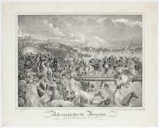 """Napoleonic Troops at Berezina"", Austrian Lithograph, 1815/20"