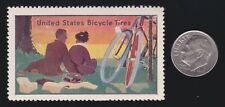 US Vintage United States Bicycle Tires Cinderella Stamp Mint