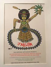 Jakupo Ako. National Arts School Gallery, Papua New Guinea, 1989 poster
