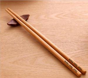 Personalised Engraved Bamboo Chopsticks Birthday Christmas New Year Gift Wood