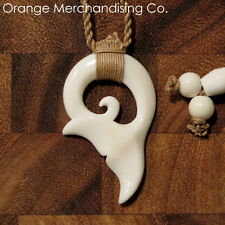 Hawaiian Maori Whale Tail Bone Necklace Pendant Charm Choker Ocean Sea Life A12