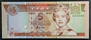 1998 Fiji 5 Dollar Bank Note