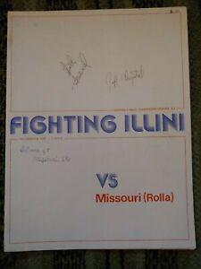 12/4 1975 ILLINOIS FIGHTING ILLINI BASKETBALL PROGRAM Scott Studwell Auto COVER!