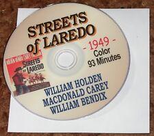 STREETS OF LAREDO (1949) DVD WILLIAM HOLDEN, Wm BENDIX, RARE USA WESTERN CLASSIC