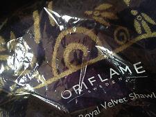 ORIFLAME NAVY/GOLD DESIGNER NEW Pashmina Scarf Shawl Stole Wrap ACRYLIC VISCOSE