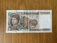 REPUBBLICA ITALIANA BANCONOTA LIRE 5000 ANTONELLO DA MESSINA 9 3 1979