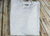 Vintage 80's Hanes Gray Beefy t shirt Blank Plain Men's Med Single Stitch USA M