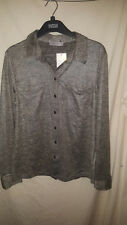 MARKS AND SPENCER SILVER COLOURED SILKY BLOUSE NEW BUT NO TAGS SZ 16 29.50 RRP