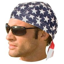 USA US Full FLAG American FITTED TIED BANDANA Head Wrap Skull Cap DOO DO Du Rag