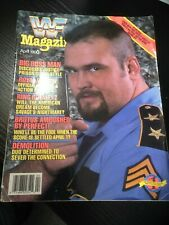 WWF WWE Magazine APRIL 1990 - BIG BOSS MAN