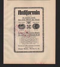 BERLIN, Werbung 1916, Oscar Kühn Antiformin keimtötend
