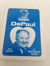 Ray Meyer Depaul Basketball Coach Blue Demons Vintage Playing Cards Deck College