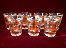 7 Ringing Hill Fire Company Shot Glasses Dedication 1977 Fire House (O)