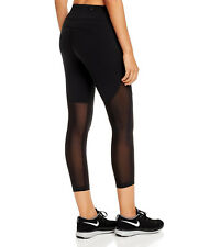 NIKE WOMEN'S RUNNING CROP TIGHT SIZE M MEDIUM BLACK US $110.00