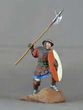 Medieval Man-at-arms armored foot soldier 54mm model medal figure war knight X