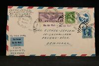 Florida: St Augustine 1932 Attractive Airmail Cover to Denmark