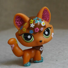 Shine Shimmer Fox orange LITTLEST PET SHOP LPS mini Action Figure #2341