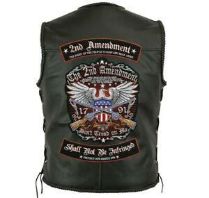 "2nd Amendment Rockers + Eagle Patch   ""Don't Tread On Me"" Patriotic   Large 12"""
