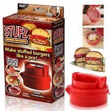 UK STUFZ Stuffed Burger Press Hamburger Grill BBQ Patty Maker Juicy As Seen OnTV