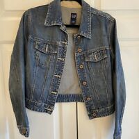 GAP XS Denim Jacket 100% Cotton Button Closure Pocket Front Minor Flaw