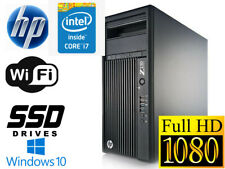 HP Z230 MT Workstation Intel i7-4770 3.40Ghz 8GB 480GB SSD Q600 Win 10 Pro