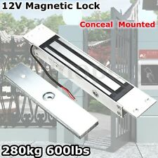 280KG Electric External Magnetic Door Entry Lock Holding Force 600Lbs 12V