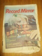 RECORD MIRROR FEBRUARY 4 1978 BLONDIE CLASH PATTI SMITH LENNY KAYE MARVIN GAYE