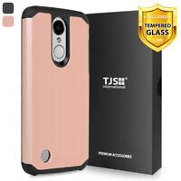For LG Aristo 4 Plus/Escape Plus/Prime 2 Phone Case TJS Herculus +Tempered Glass