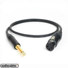 Mogami 2534 w/ Gold Neutrik Female XLR to TS Unbalanced Cable (Pseudo Balanced)