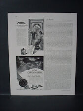 1946 Doxa Chronograph Wrist Watch Storm is Coming Vintage Print Ad 10998