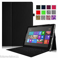 Folio Leather Case Cover with Stand for Microsoft Surface Pro 3 Tablet 12-inch
