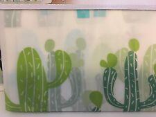Mojave Cactus Peva Shower Curtain By Haven Green Blue Dark Gray Southwestern