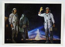 Star Way Of Humanity 4 Postcards Leonov Space Drawings Soviet Union Cosmos