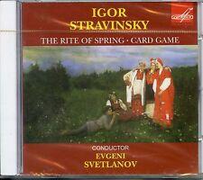 STRAVINSKY, IGOR (1882-1971) RITE OF SPRING / CARD GAME (SVETLANOV)  CD