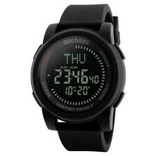 SKMEI Mens Compass Large Display Digital Watch Resin Strap Alarm DG1289