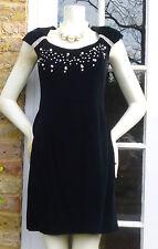 EN FRANCAIS by Huey Waltzer black velvet dress Size 12