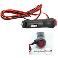 12V-24V Auto Car Cigar Lighter Socket Plug Connector Extension Cord with Switch