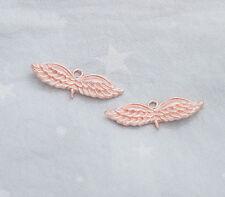 Charms Crystal Rhinestone Enamel Angel Curved Wing Connectors Findings 54MM