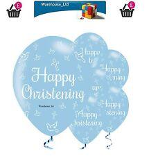 """Christening Butterflies Pearl Light Blue 11"""" Qualatex Latex Balloons"""