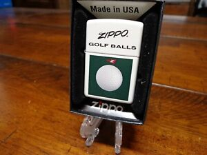 ZIPPO GOLF BALLS DESIGN ZIPPO LIGHTER MINT IN BOX
