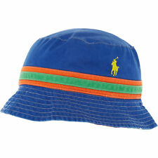 fc3fd9d8 POLO RALPH LAUREN Mens Blue Multicoloured Cotton Bucket Hat, Reversible, S-M