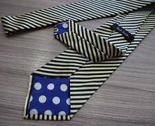 Paul Smith INGLESE DA CORSA VERDE Cravatta With Gold Righe 9cm Lama