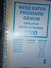 WEED EATER - FRIGIDAIRE - GENIUM tracteur tondeuse : catalogue pièces 2000