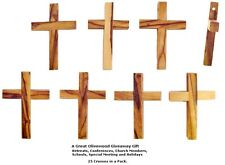 Olive Wood Pocket Cross / 25 Pk.