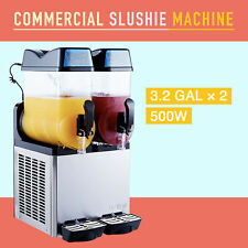 24L Slush Making Machine 2 x 12L Slushie Machine Frozen Drink Machine 500W