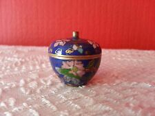Small Vintage Cloisonne Apple Trinket Box