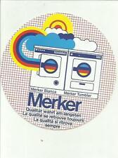 sticker adesivo MERKER LAVATRICI CM 12