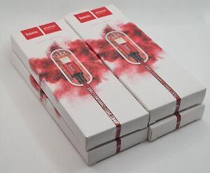 4x HOCO X14 USB Daten Ladekabel Lightning Rot Nylon 1 Meter für iPhone, iPad