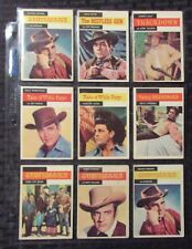 1958 GUNSMOKE Western Mixed Trading Card LOT of 12 VG+/FN- Tales of Wells Fargo